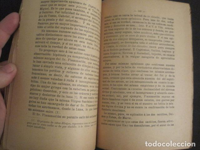 Libros antiguos: ASTRONOMIA RACIONAL Y ASTRONOMIA IRRACIONAL-ENRIQUE SANCHEZ BARCELONA AÑO 1901 -VER FOTOS-(V-10.071) - Foto 5 - 80766002