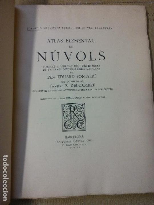 HOS. ATLAS ELEMENTAL DE NUVOLS. EDUARDO FONTSERE. GUSTAU GILI. 1925. COMPLETO. EJEMPLAR 28 (Libros Antiguos, Raros y Curiosos - Ciencias, Manuales y Oficios - Astronomía)