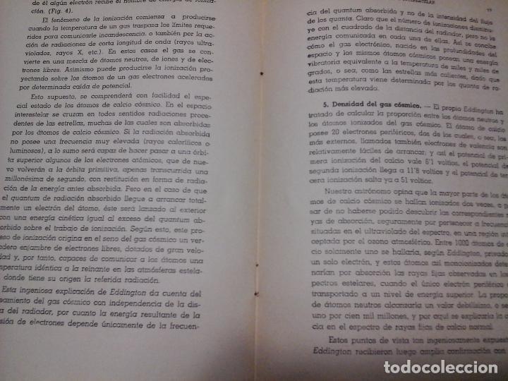 Libros antiguos: LA MATERIA INTERESTELAR, IGNACIO PUIG, S. J., OBSERVATORIO SAN MIGUEL. 1937 TALLERES MOLY LASSERRE - Foto 3 - 87197580