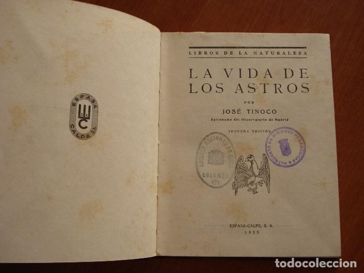 Libros antiguos: LA VIDA DE LOS ASTROS - JOSE TINOCO - 2º EDICION 1933 - Foto 3 - 88965464
