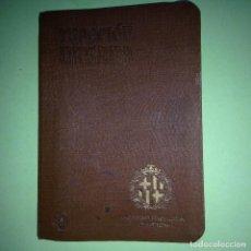 Libros antiguos: REGLAMENTO DE TRACCIÓN URBANA - AYUNTAMIENTO BARCELONA 1911 - MATRICULAS- HISPANO SUIZA- MODELOS. Lote 89959612