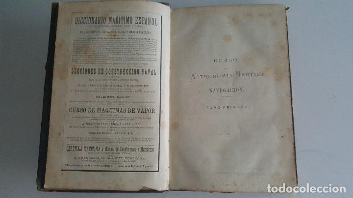 Libros antiguos: CURSO DE ASTRONOMIA NAUTICA Y NAVEGACION - TOMO I - 1880- F. FERNANDEZ FONTECHA - Foto 2 - 91027680