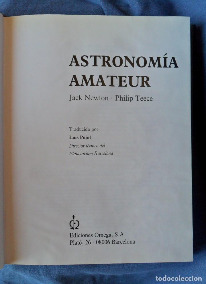 Libros antiguos: Astronomía Amateur Jack Newton Philip Teece. - Foto 2 - 91648190