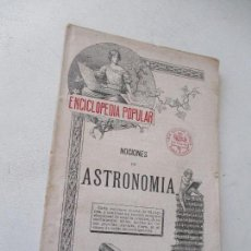 Libros antiguos: ENCICLOPEDIA POPULAR Nº. 15.- NOCIONES DE ASTRONOMIA-S/F.- CASA EDT: SOPENA, BARCELONA. Lote 94321654