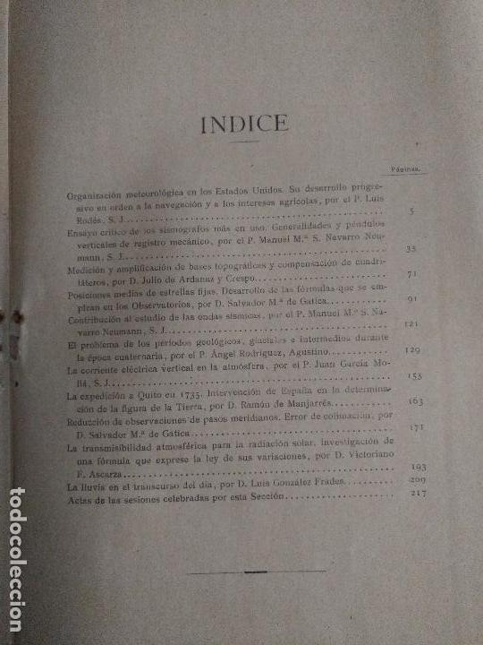 Libros antiguos: CONGRESO DE SEVILLA TOMO IV, ASTRONOMÍA Y FÍSICA DEL GLOBO - Foto 4 - 52953783