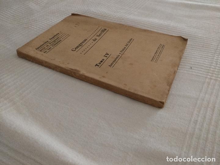 Libros antiguos: CONGRESO DE SEVILLA TOMO IV, ASTRONOMÍA Y FÍSICA DEL GLOBO - Foto 7 - 52953783