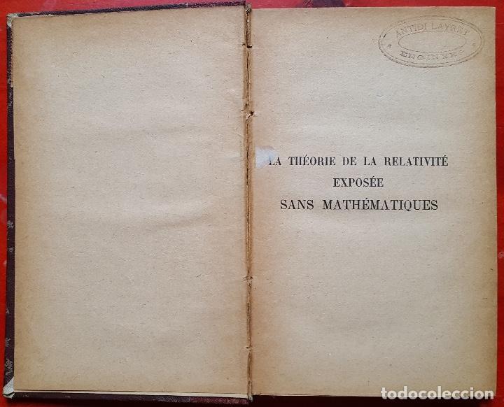THEORIE DE LA RELATIVITÉ (Libros Antiguos, Raros y Curiosos - Ciencias, Manuales y Oficios - Astronomía)