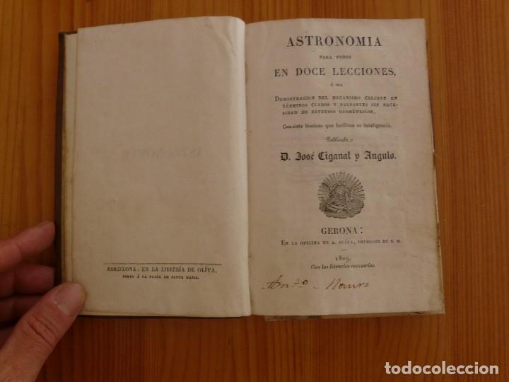 Libros antiguos: Astronomia para todos en doce lecciones año 1829 con desplegables - Foto 2 - 98495331