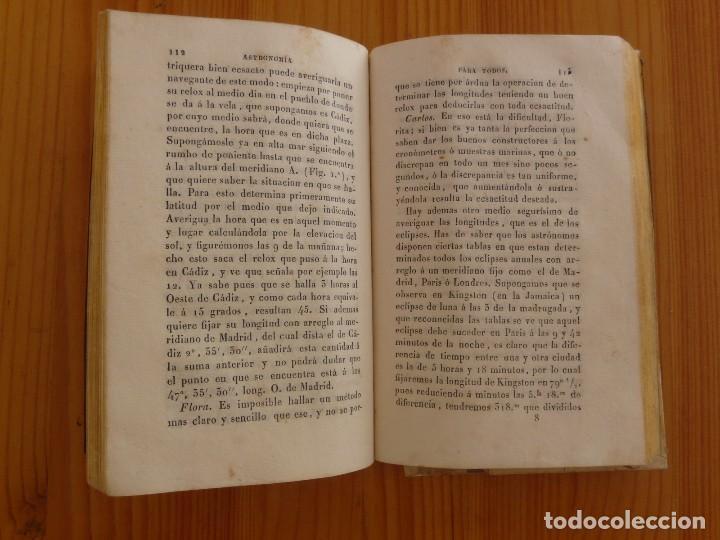 Libros antiguos: Astronomia para todos en doce lecciones año 1829 con desplegables - Foto 3 - 98495331