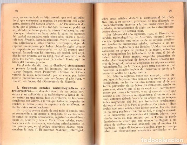 Libros antiguos: LA PLURALIDAD DE MUNDOS HABITADOS. IGNACIO PUIG. AÑO 1934 - Foto 2 - 101453355