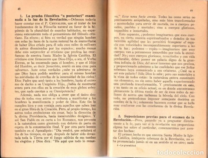 Libros antiguos: LA PLURALIDAD DE MUNDOS HABITADOS. IGNACIO PUIG. AÑO 1934 - Foto 3 - 101453355