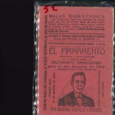 Libros antiguos: EL FIRMAMENTO CALENDARIO ZARAGOZANO 1948. Lote 101840271