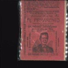 Libros antiguos: EL FIRMAMENTO CALENDARIO ZARAGOZANO 1954. Lote 101844115