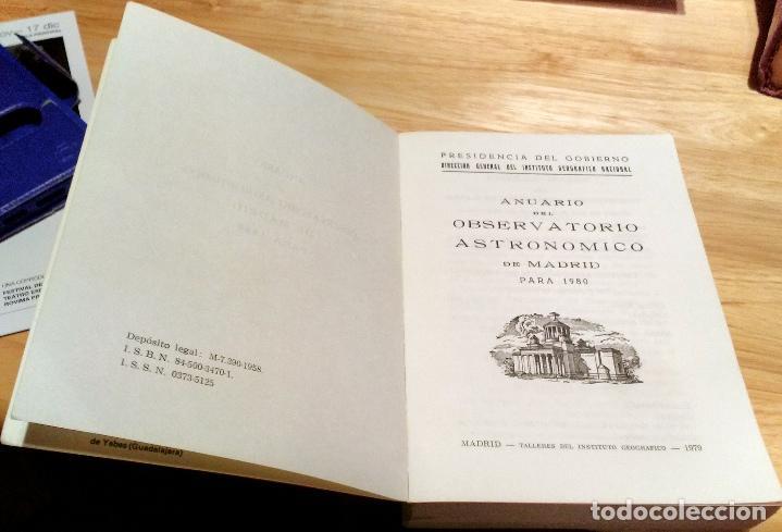 Libros antiguos: ANUARIO DEL OBSERVATORIO ASTRONÓMICO DE MADRID PARA 1980 - Foto 8 - 104553027