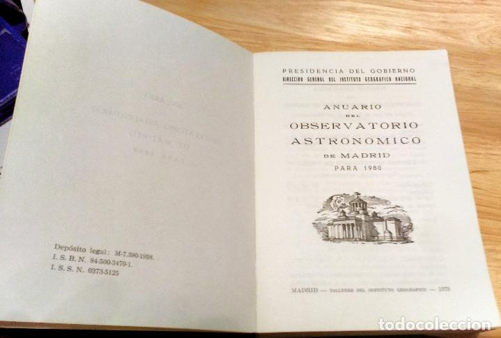 Libros antiguos: ANUARIO DEL OBSERVATORIO ASTRONÓMICO DE MADRID PARA 1980 - Foto 9 - 104553027