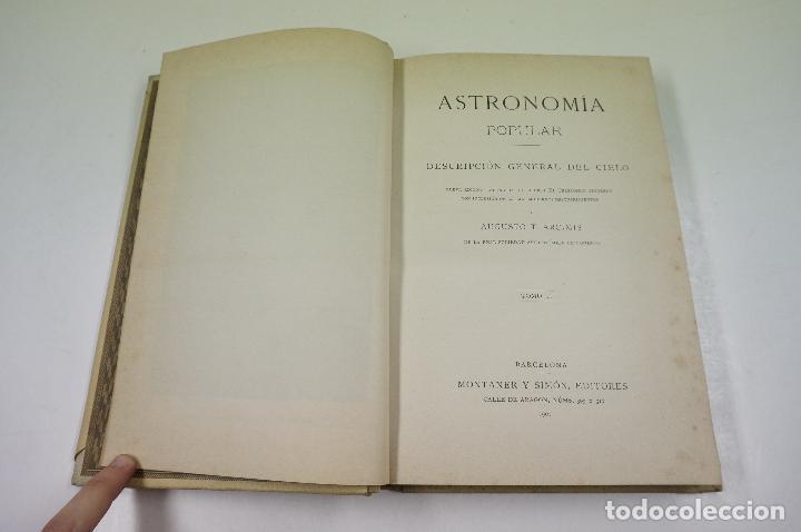 Libros antiguos: astronomia popular, descripcion general del cielo, 2 tomos, 1901, barcelona. 17x24,5cm - Foto 2 - 104597599