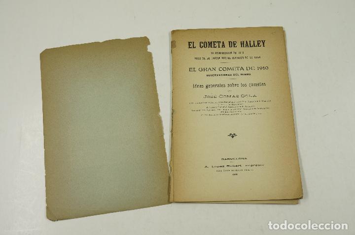 Libros antiguos: el cometa de halley, edición ilustrada con grabados, j. comas solá, barcelona. 14x21,5cm - Foto 2 - 105790575