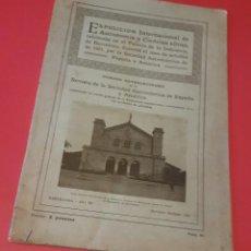 Libros antiguos: ASTRONOMIA - 1921 - EXPOSICIÓN INTERNACIONAL DE ASTRONOMIA - BARCELONA - REVISTA NÚM. 80. Lote 105893555