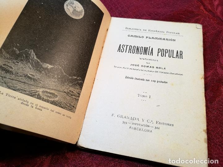 Libros antiguos: antiguo libro astronomia popular . c. Flammarion , tomo i . - Foto 3 - 108750443