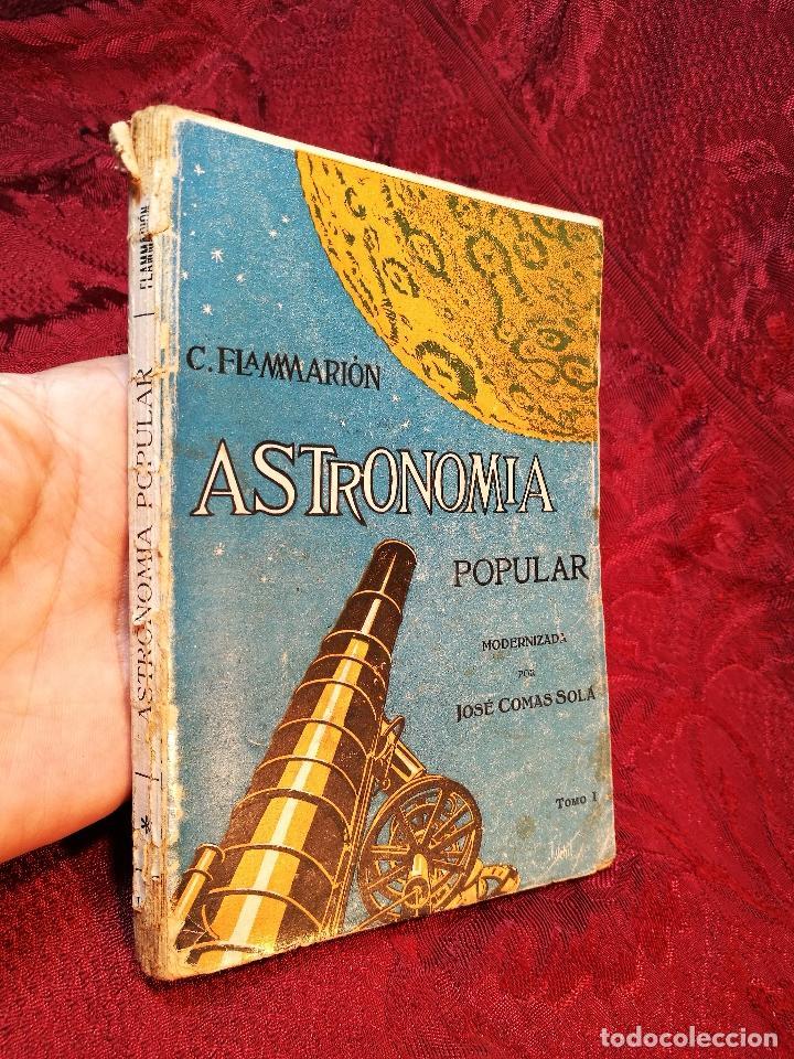 Libros antiguos: antiguo libro astronomia popular . c. Flammarion , tomo i . - Foto 9 - 108750443