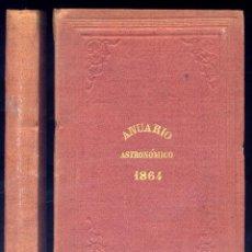 Libros antiguos: ANUARIO ASTRONÓMICO DEL REAL OBSERVATORIO DE MADRID. QUINTO AÑO,1864. 1863.. Lote 109236255