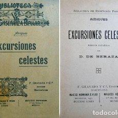 Libros antiguos: AMIGUES, EDOUARD. EXCURSIONES CELESTES. (HACIA 1905).. Lote 109244363