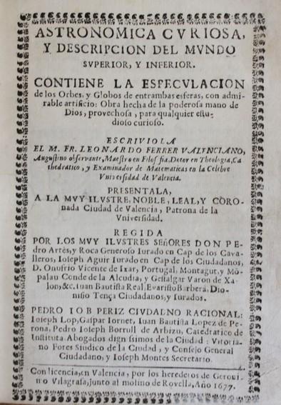 Libros antiguos: ASTRONOMICA CURIOSA, y descripcion del mundo superior y inferior. Contiene la especulacion de los o - Foto 2 - 109022258
