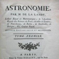 Libros antiguos: ASTRONOMIE. - LA LANDE, JERÔME DE.. Lote 109021662