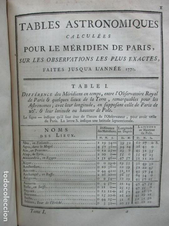 Libros antiguos: ASTRONOMIE. - LA LANDE, Jerôme de. - Foto 6 - 109021662