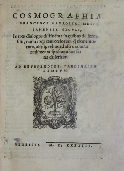 Libros antiguos: COSMOGRAPHIA. - MAUROLICO, Francesco. 1543. Con grabados de figuras geométricas y astronómicas. - Foto 2 - 109024332