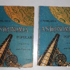 Libros antiguos: ASTRONOMÍA POPULAR MODERNIZADA 2 VOLUMÉNES. CAMILO FLAMMARIÓN. AÑOS 30 BARCELONA. ED.: F. GRANADA. Lote 114768659