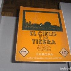 Libros antiguos: EL CIELO Y LA TIERRA - EUROPA - Nº 25 EDITORIAL SEGUI - CON PLANO DE BERLIN PLANO DE BELFAST AÑOS 30. Lote 115478703