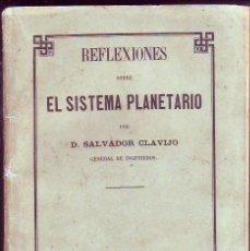 Libros antiguos: REFLEXIONES SOBRE EL SISTEMA PLANETARIO TENERIFE 1870. Lote 116992055