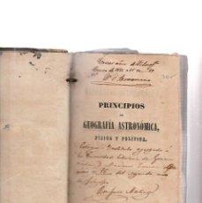 Libros antiguos: PRINCIPIOS DE GEOGRAFIA ASTRONOMICA-FISICA Y POLITICA-FRANCISCO VERDEJO PAEZ-12º EDICION-MADRID 1849. Lote 117165499