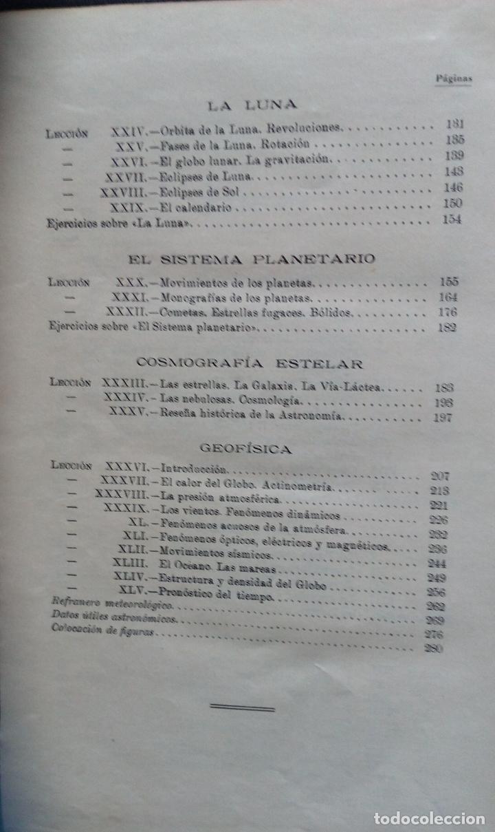 Libros antiguos: LECCIONES DE COSMOGRAFÍA Y GEOFÍSICA. GABRIEL GALÁN. 1934 (ASTRONOMÍA. ASTROFÍSICA. FÍSICA) - Foto 4 - 117211567