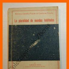 Libros antiguos: LA PLURALIDAD DE MUNDOS HABITADOS - IGNACIO PUIG. Lote 118882323