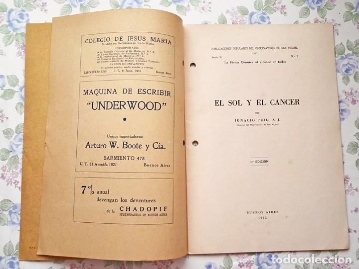 Libros antiguos: 1935 Cuaderno el Sol y el cáncer Ignacio Puig publicaciones populares - Foto 4 - 122863387