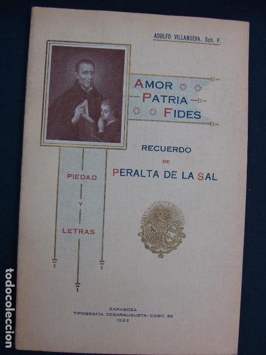 PERALTA DE LA SAL (HUESCA). ADULFO VILLANUEVA. ZARAGOZA 1922. MUY RARO. HISTORIA LOCAL MUY RARA.. (Libros Antiguos, Raros y Curiosos - Ciencias, Manuales y Oficios - Astronomía)