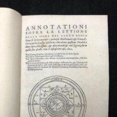 Libros antiguos: MAURO DI FIRENZE. ANNOTATIONI SOPRA LA LETTIONE DELLA SPERA DEL SACRO BOSCO. 1550. Lote 125380359