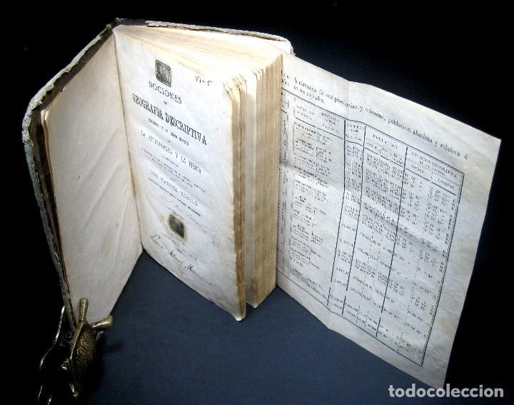 Libros antiguos: Año 1869 Astronomía Física y Geografía descriptiva Tabla desplegable Cuba Filipinas Merelo - Foto 3 - 125822183