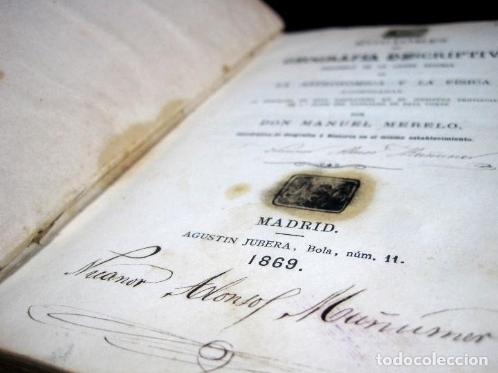 Libros antiguos: Año 1869 Astronomía Física y Geografía descriptiva Tabla desplegable Cuba Filipinas Merelo - Foto 6 - 125822183