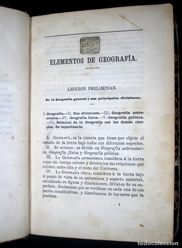Libros antiguos: Año 1869 Astronomía Física y Geografía descriptiva Tabla desplegable Cuba Filipinas Merelo - Foto 11 - 125822183