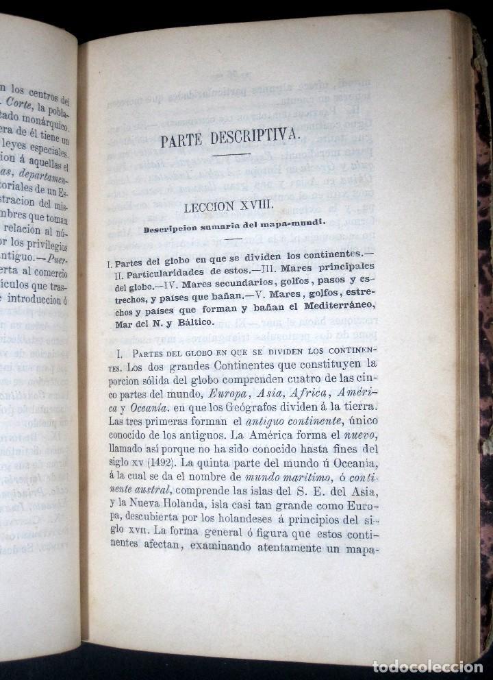 Libros antiguos: Año 1869 Astronomía Física y Geografía descriptiva Tabla desplegable Cuba Filipinas Merelo - Foto 12 - 125822183