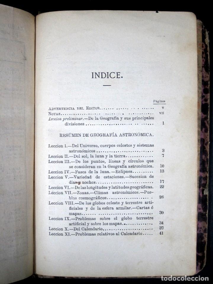 Libros antiguos: Año 1869 Astronomía Física y Geografía descriptiva Tabla desplegable Cuba Filipinas Merelo - Foto 13 - 125822183