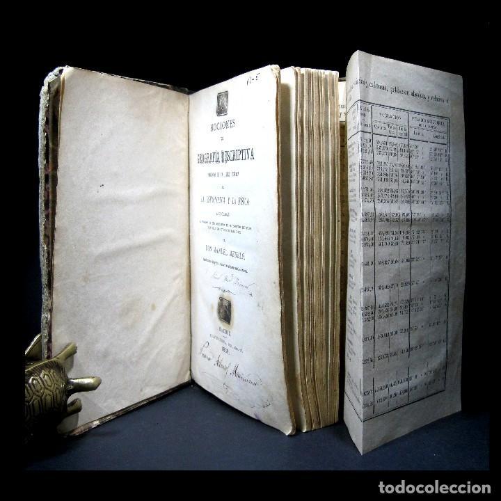 Libros antiguos: Año 1869 Astronomía Física y Geografía descriptiva Tabla desplegable Cuba Filipinas Merelo - Foto 14 - 125822183