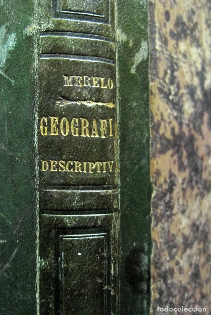 Libros antiguos: Año 1869 Astronomía Física y Geografía descriptiva Tabla desplegable Cuba Filipinas Merelo - Foto 17 - 125822183