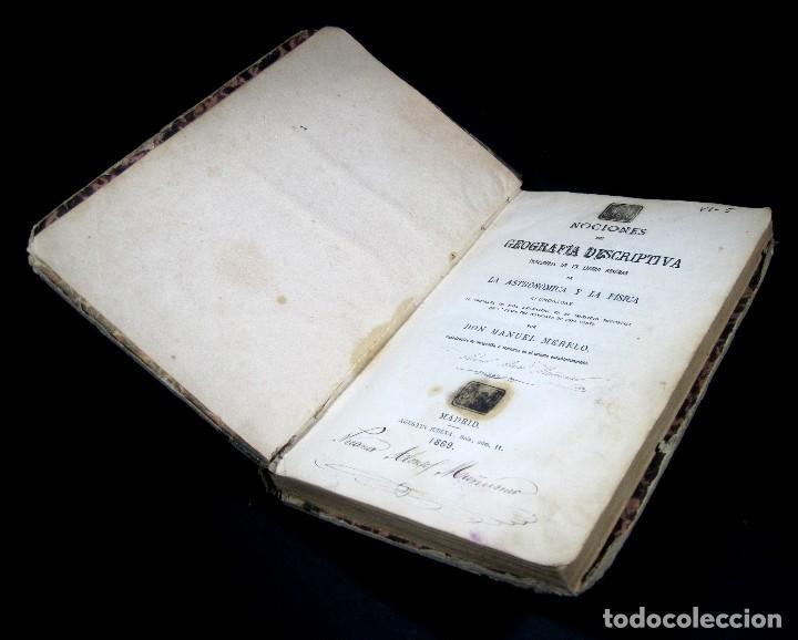 Libros antiguos: Año 1869 Astronomía Física y Geografía descriptiva Tabla desplegable Cuba Filipinas Merelo - Foto 18 - 125822183