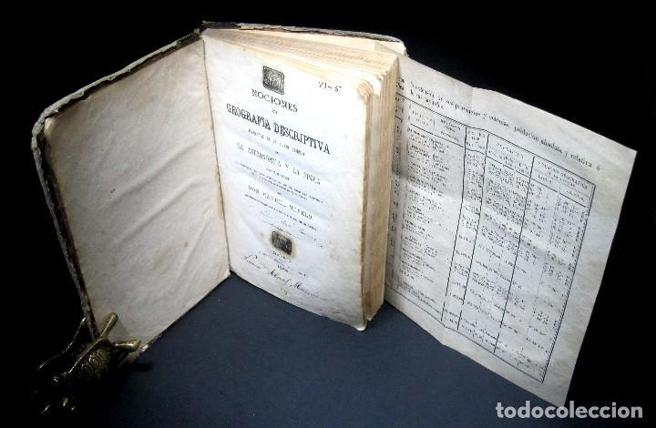 Libros antiguos: Año 1869 Astronomía Física y Geografía descriptiva Tabla desplegable Cuba Filipinas Merelo - Foto 20 - 125822183
