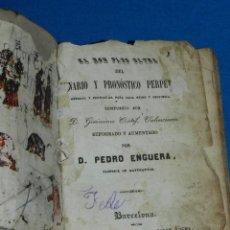 Libros antiguos: (MF) GERONIMO CORTES - EL NON PLUS ULTRA DEL LUNARIO Y PRONOSTICO PERPETUO 1844. Lote 127758939