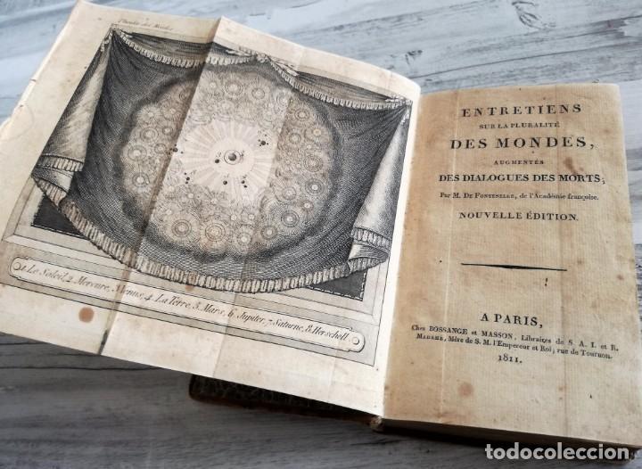 Libros antiguos: ENTRETIENS SUR LA PLURALITÉ DES MONDES - CONVERSACIONES SOBRE LA PLURALIDAD DE MUNDOS. DESPLEGABLE - Foto 3 - 131746622